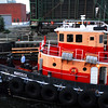 Tugs and the Tanker New England in Chelsea Creek.
