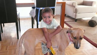 Zo loves his puppy Cula!