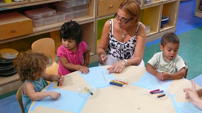 At preschool with teacher Debbie and friend Rebecca!