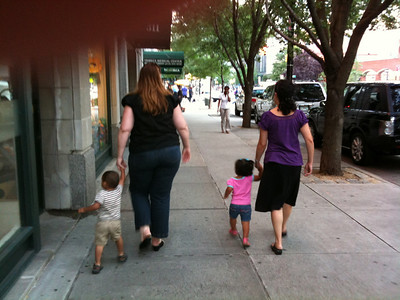 walking the streets of tribeca with Mimi
