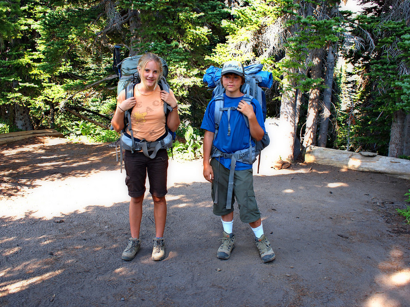Emily and Matt loaded up for the hike out.