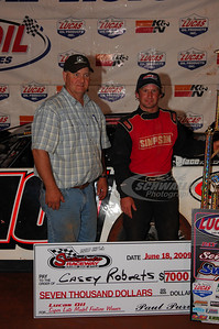 Casey Roberts in Victory Lane @ Swainsboro Raceway with track promoter Paul Purvis