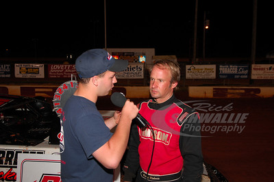 Casey Roberts interviewed by Travis Scott in Victory Lane @ Swainsboro Raceway