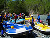 Part of the day's training was a ride down the Matanuska River in - and out of - these rafts.