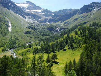 Alpine view. Next, it was off to the world-famous ski resort of Zermatt.