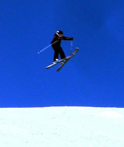 Summer skiing jump