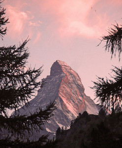 The Matterhorn looms over Zermatt
