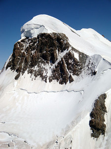 Heaps of climbers do day climbs to the top of the Breithorn, from the same lift I skied off from.