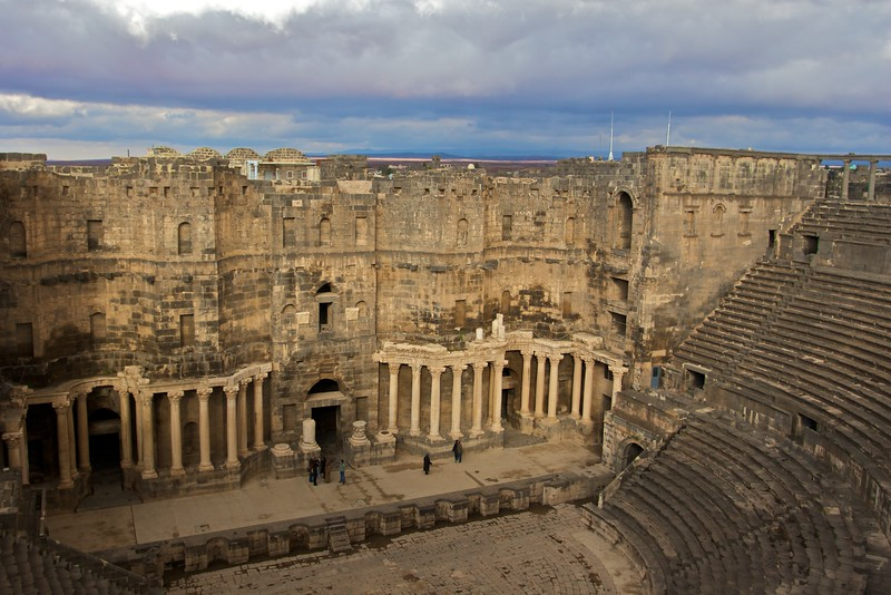 The Roman amphitheatre at Bosra on a cold New Year's Day.
