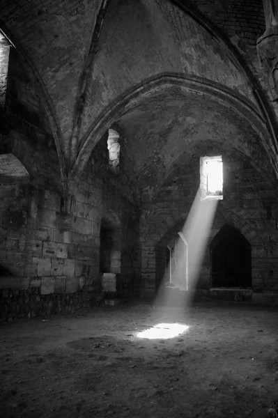One of the chambers in the Crac des Chevaliers.