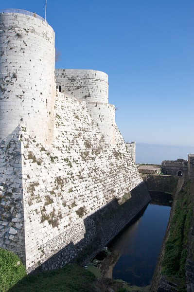 The Crusader fortress of Crac des Chevaliers in west-central Syria.