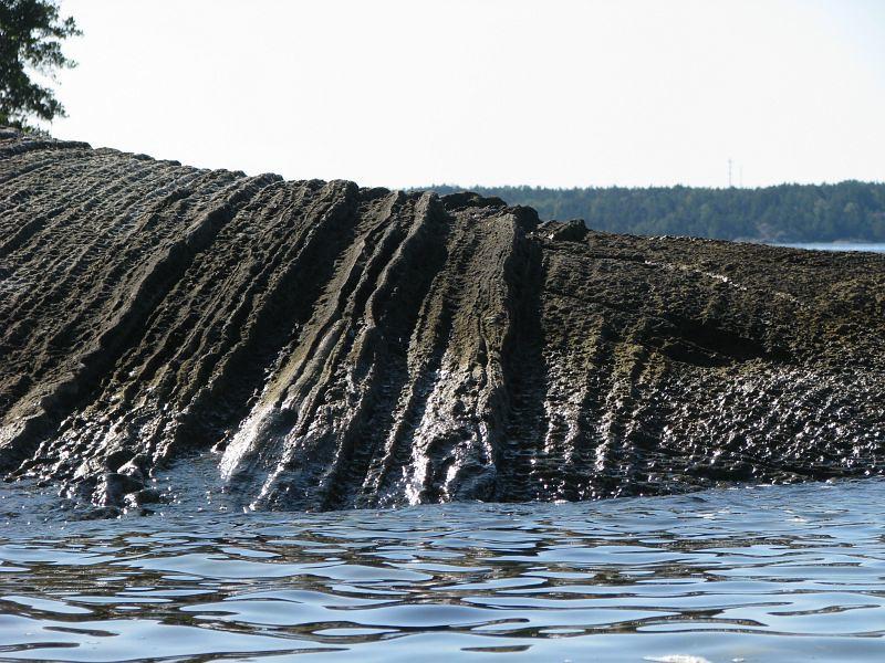 Bergformation på Munkö