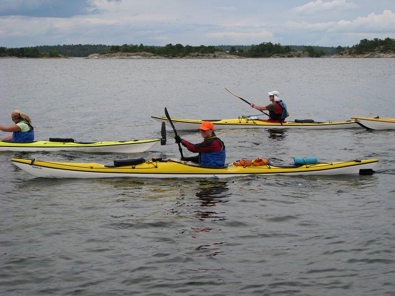Gunilla, Carin och Ulf deltagare i lag syd