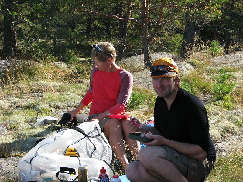 Anna och Anders  vid lunchen