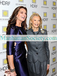 """NEW YORK-NOVEMBER 16: Actress Brooke Shields, HDRF Founder & Chairman Audrey Gruss attend The 2009 Hope For Depression Research Foundation Hope Seminar & Luncheon honoring Brooke Shields with The Hope Award for Depression Advocacy on Monday, November 16, 2009 at  """"10 on the Park"""", Time Warner Center, 60 Columbus Circle, New York City, NY.  (Photo Credit: ©Manhattan Society.com 2009 by Christopher London)"""