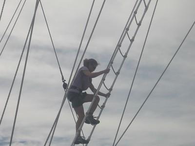 rebecca climbs the mast - Andrew Gossen