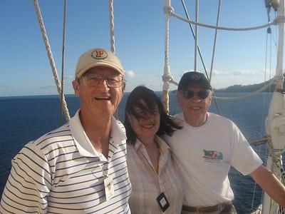 van, ken, and joanna in the crow's nest - Andrew Gossen