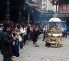 Longshan Temple, first courtyard, incense burner