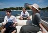 Setting out: Benjamin, John, and Chantal