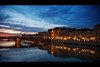 firenze florence river arno sunset