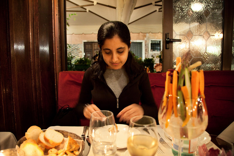 sham dinner taverna la fenice venice