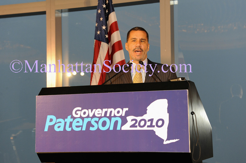 NEW YORK-JUNE 11: New York Governor David A. Paterson addresses guests at The 55th Birthday Celebration of New York Governor David A. Paterson on Thursday, June 11, 2009 at The Mandarin Oriental Hotel at Columbus Circle, New York City, NY  (Photo Credit: ©ManhattanSociety.com by Gregory Partanio)
