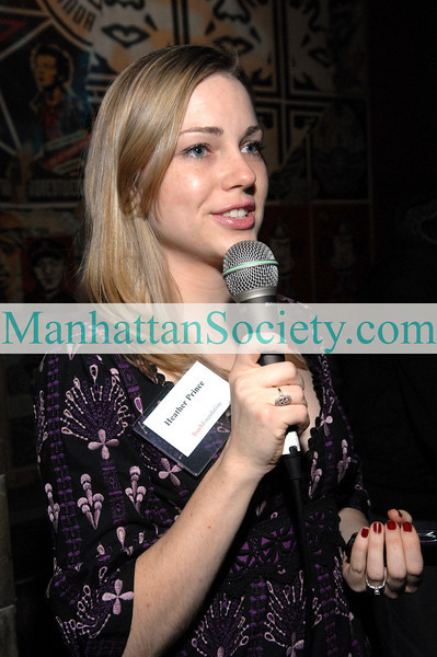 NEW YORK-JANUARY 28: Heather Prince addresses guests at The Touch Foundation Young Leaders Frosty Fete at BLVD,199 Bowery at Spring Street, New York City, NY on  Wednesday, January 28, 2009 (Photo Credit: Christopher London/ManhattanSociety.com)