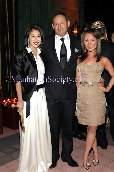 NEW YORK-MARCH 27: Adelina Wong Ettelson, John Demsey, Alina Cho attend The Young Friends of SAVE VENICE Primavera a Venezia: A Masked Venetian Ball at Bowery Terrace at The Bowery Hotel, 335 Bowery, New York City, NY on Friday, March 27, 2009 (Photo Credit: Christopher London/ManhattanSociety.com)