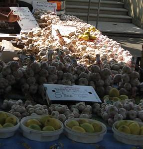 Garlic at the Arles Market - Mibs Mara