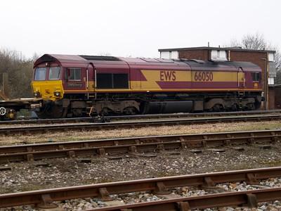 66050 'EWS Energy' sits at Hoo Junction stabling point