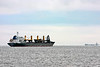Bulk Carrier Ship Alice Oldendorff off Portsmouth Harbor NH with a load of Gypsum