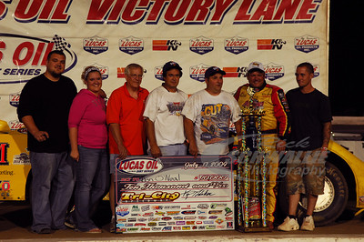 Don O'Neal and crew in Victory Lane @ Tri-City Speedway