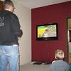 Sam is kicking my butt at Mario Kart