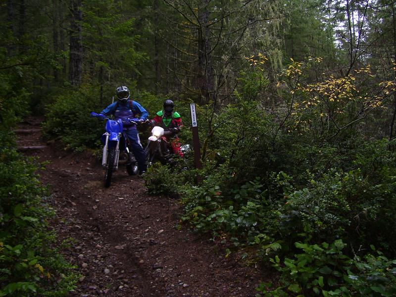 Sat. Nov 14, Green Mt. Ride. Justin & Seth on the Gold Creek Trail