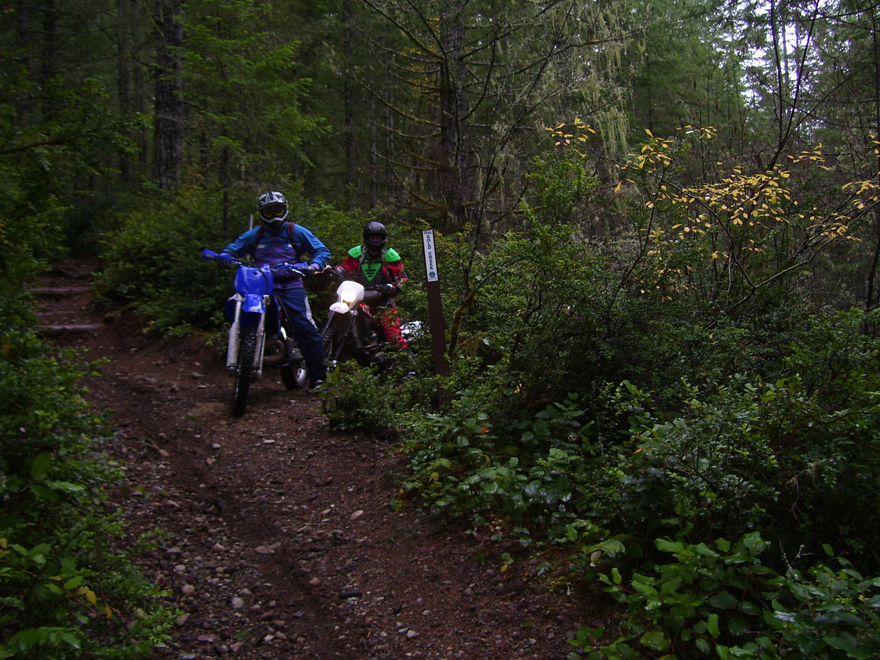 Sat. Nov 14, Green Mt. Ride. Justin & Seth on the Gold Creek Trail