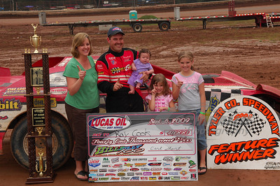 Ray Cook and Family in Victory Lane @ Tyler County Speedway for the Hillbilly 100