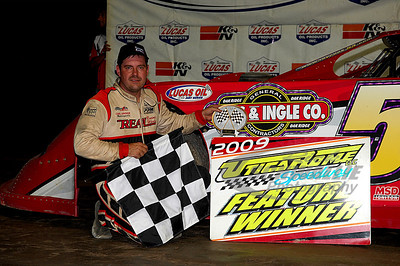 Ray Cook in Victory Lane @ Utica-Rome Speedway