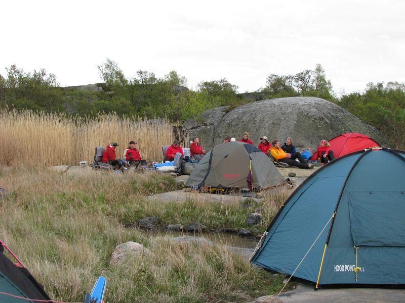 Tältplatsen på Kallskär