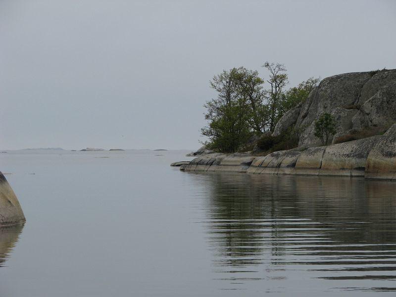 Inloppet i lagunen