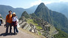 Yay !!  Looking at Machu Picchu structures from above - look at the mountains in the back, can you see a man's face ?  (hint: the tallest mountain is the nose)