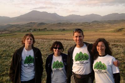 Lake District sunset team