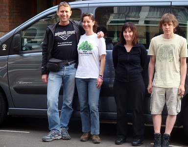We started in London with a massive hire van, allowing plenty of room to spread out and stow our gear.