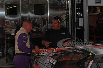 David Breazeale talks with car owner Jason Creel