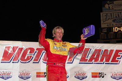 Tim McCreadie in Victory Lane @ Volunteer Speedway