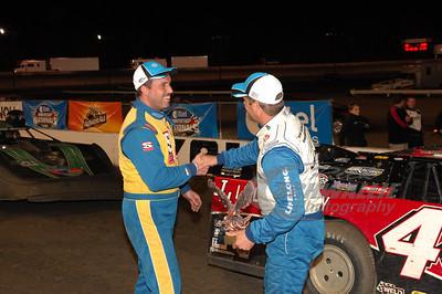Shane Clanton congratulates Earl Pearson, Jr.