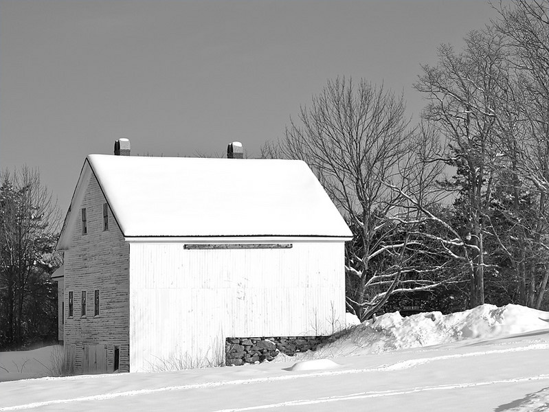 Farm House and Barn at Wagon Hill Farm