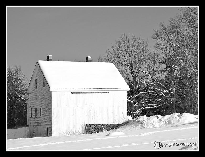 Farm House and Barn at Wagon Hill Farm