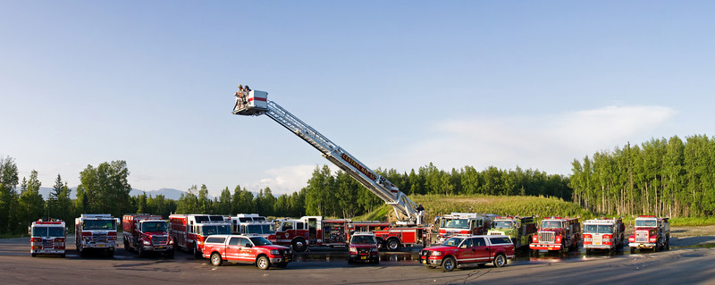 A number of the trucks of Wasilla's Central Mat-Su Fire Department.