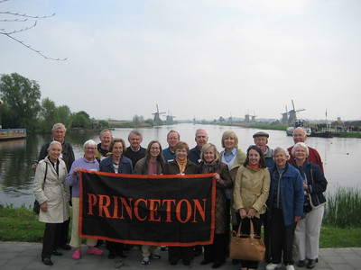 Princeton group at  Kinderdijk Windmills