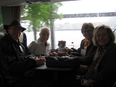 Bob and Karin Hardy, Ginger Griffin and Jeanne Davis on bus - Kaitlin Lutz